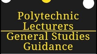 APPSC Polytechnic Lecturers General Studies Guidance
