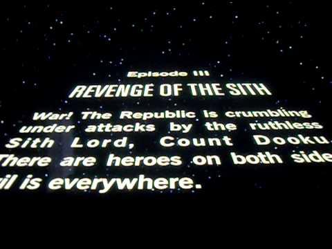 Starwars Intro Revenge Of The Sith Youtube