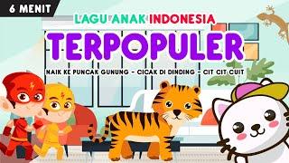 kompilasi lagu anak indonesia terpopuler part 8 | naik ke puncak gunung, cicak, cit cit cuit