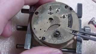 How I install a pocket watch mainspring, Elgin