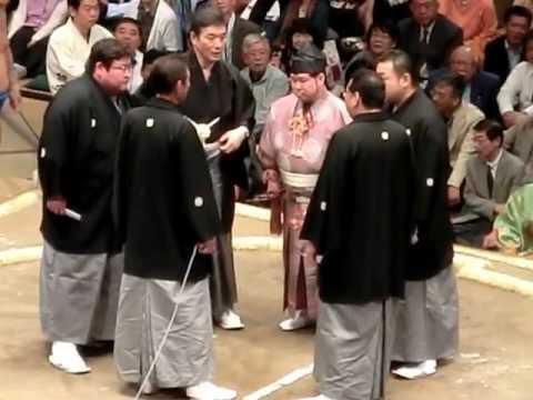 隠岐の海VS豪風(物言い)2012年...