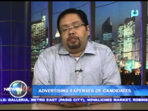 NewsLife Interview: James Jimenez, COMELEC Spokesperson - on Advertising expenses of candidates