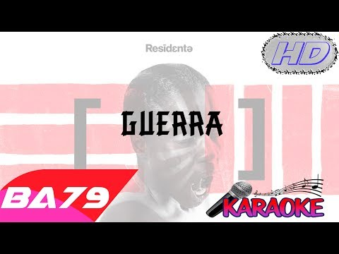 Residente - Guerra - Video Karaoke Letra Instrumental