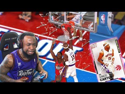 LIMITED VINCE CARTER BACKBOARD BREAKING DUNKS! NBA 2K19