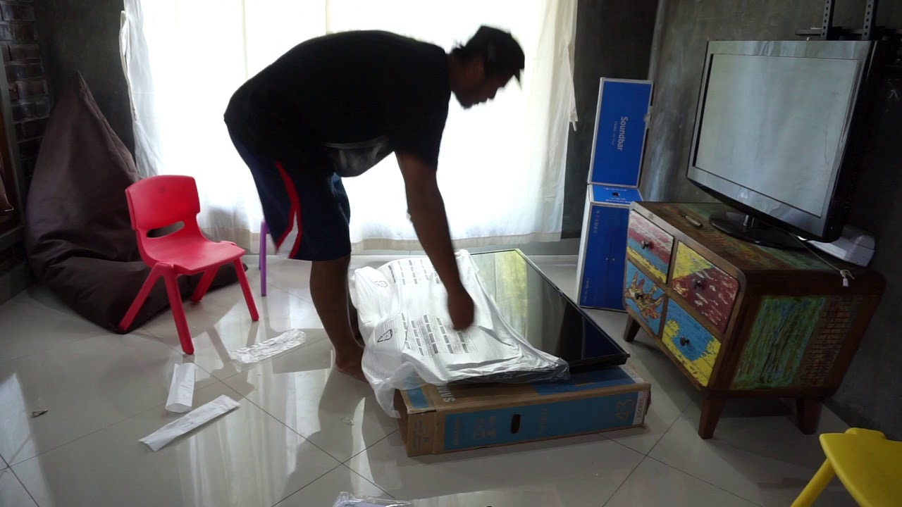 Unboxing Tv Samsung Led Tv Samsung 43 Inch Full Hd Ua43k5002