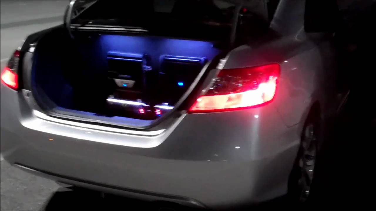 My Honda Civic Si New Stereo Setup W Alpine 12 Quot Type R Sub Youtube