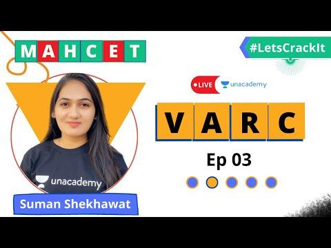 MAHCET 2021 | VARC With Suman Shekhawat | Ep 03 | Unacademy CATalyst