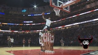 Awesome Dunk Over 6 People! | Bulls Dunk Contest with Guy Dupuy, C.J. Champion | 01.09.17 Video