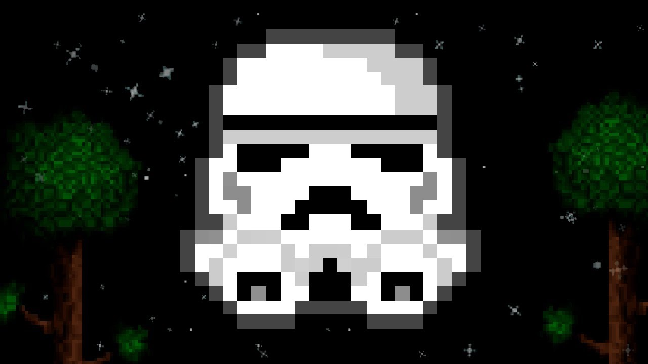 Terraria Storm Trooper Pixel Art May The Fourth Special