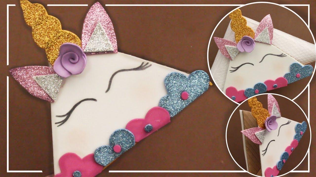 c708a060a Porta servilletas de unicornio con goma eva y carton | Servilletero ...