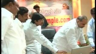 yaganti temple site inauguration with Rajashekar Reddy (CM)