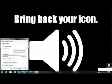 The Volume Icon disappeared ! - Fix Tutorial for Windows 7 / Vista