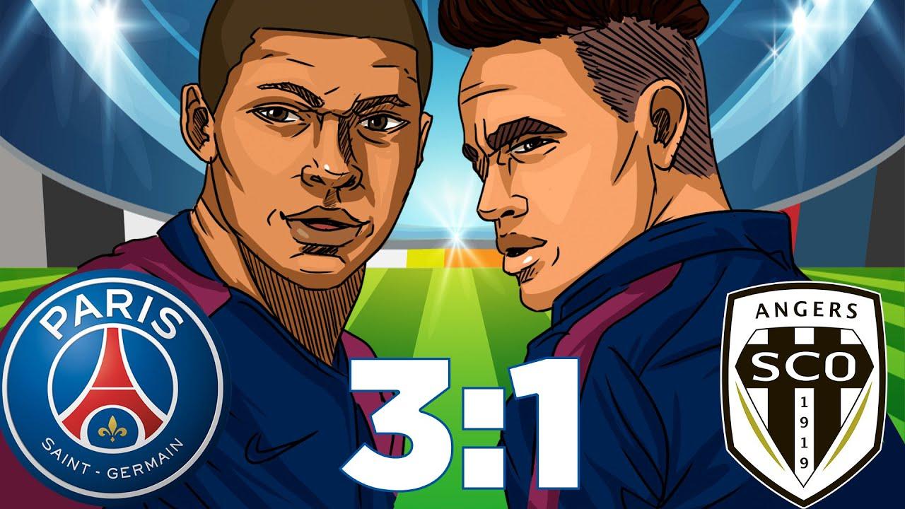 PSG vs Angers SCO (3-1) Résumé Ligue 1 Conforama 25/08 ...