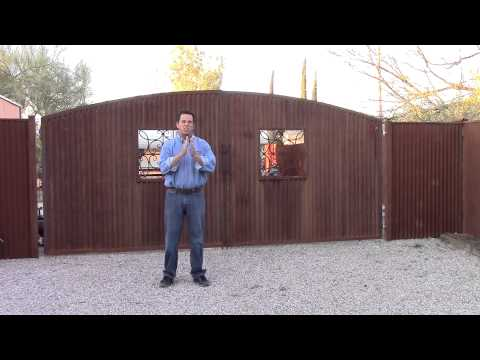 Corrugated Steel Fence By Affordable Fence And Gates Youtube
