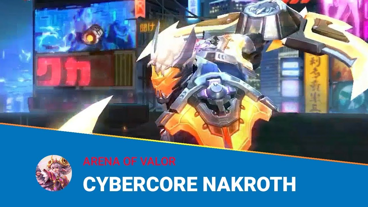 New skin Cybercore Nakroth will arrive on May 18 - AOV Pro