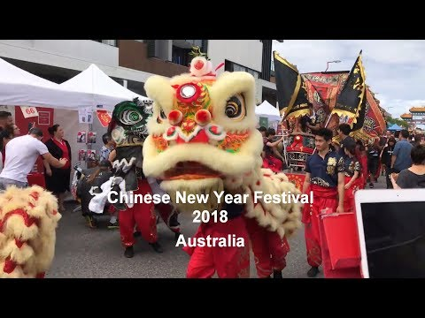 Melbourne, Australia | Chinese New Year Festival - Lion Dance Performance | 2018