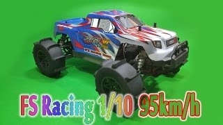 [Unboxing Run] RC Car FS Racing 1/10 95km/h - Running On Water