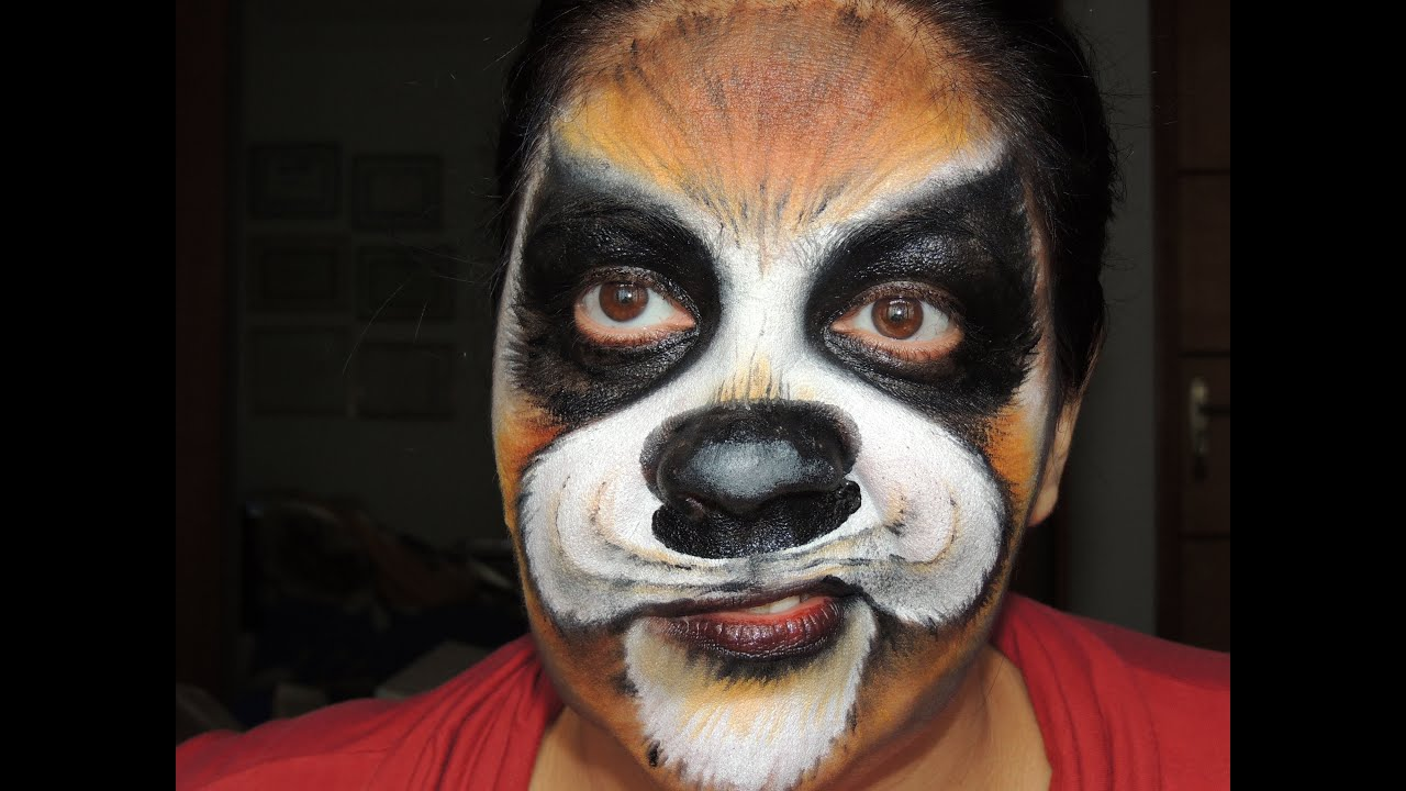 Makeup Halloween Dog - YouTube