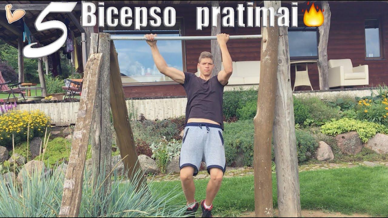 5 Patys Geriausi Bicepso Pratimai Ant Turniko Youtube