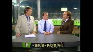 DFB Pokal Nachbesprechung mit Delling Netzer und Bundeskanzler Gerhard Schröder Teil 1 von 2 (2001)
