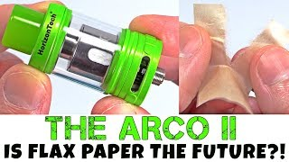 Is Flax Paper The Future Of Vaping?! The ARCO V2 By HorizonTech!