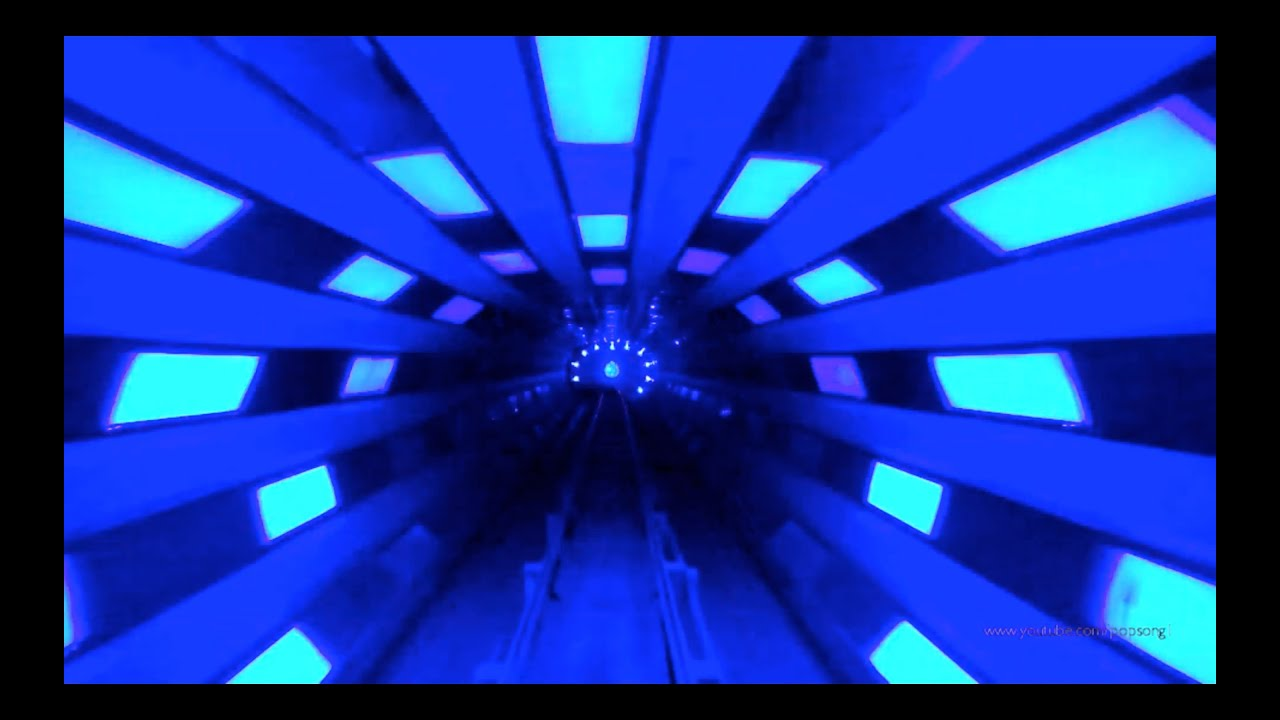 3d Tunnel Wallpaper Space Mountain Front Row Night Vision Pov Magic Kingdom