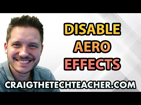 How To Disable Windows 7 Aero Effects And Themes