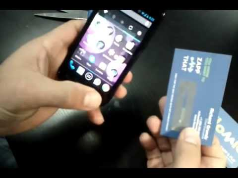 Make your own nfc business cards youtube reheart Image collections