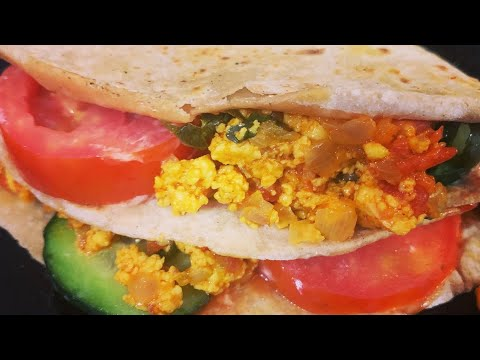 Tortilla Paneer Bhurji  in Roti make just 2 minutes Rasoi.me by Martina Motwani