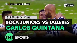 Carlos Quintana (1-1) Boca Juniors vs Talleres | Fecha 21 - Superliga Argentina 2017/2018