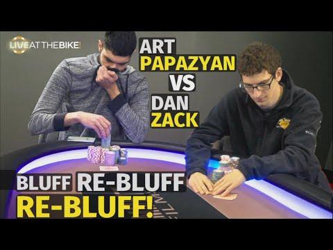 Bluff vs Re-Bluff vs Re-Bluff: Art Papazyan & Dan Zack Go For It ♠ Live at the Bike!