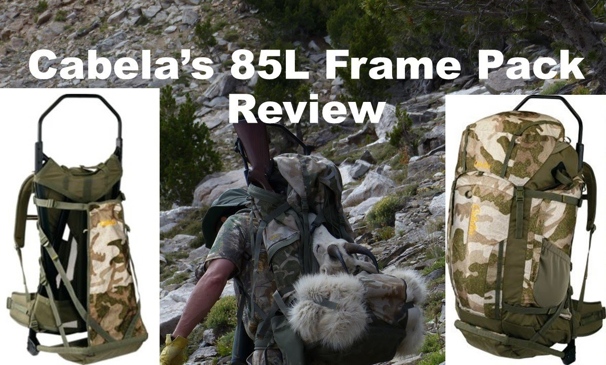 CABELA\'S 85L FRAME PACK REVIEW - YouTube
