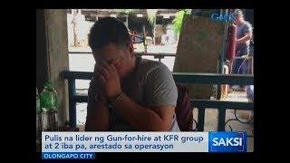Saksi: Pulis na lider ng Gun-for-hire at KFR group at 2 iba pa, arestado sa operasyon