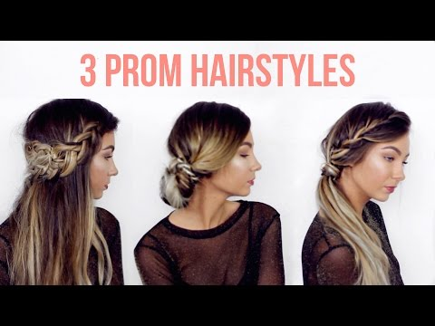 3 QUICK AND EASY PROM / FORMAL HAIRSTYLES | Beautybyasha