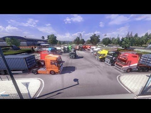 Euro Truck Simulator 2 Multiplayer #1 Convoy Paris - Brno Part 1
