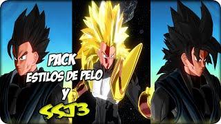 Dragon Ball Xenoverse:Pack de estilos de pelo y Ssj3 [Mods]