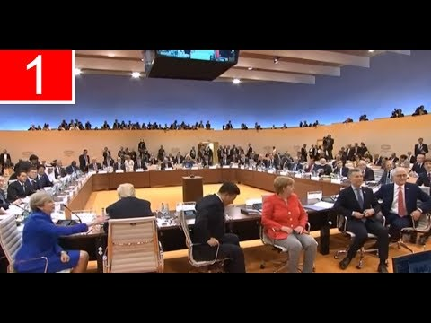 Awkward Moment At G20 Summit: Theresa May Asks Donald Trump To Turn Around For A Photo (07/07/2017)