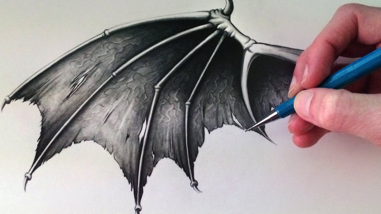 How to Draw a Demon Wing - YouTube