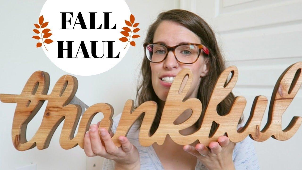 fall home decor haul michaels homesense and dollar tree haul