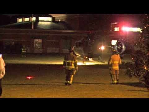 Life Force landing at Dallas Bay VFD Scene Team class