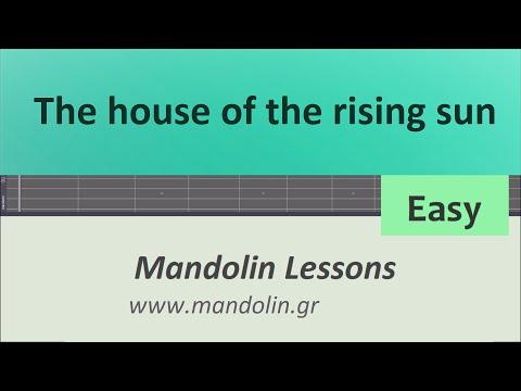 House of the rising sun Mandolin tab easy