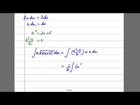 Integration (7) - By Substitution (C4 Maths A-Level)