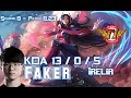 SKT T1 Faker IRELIA vs LEBLANC Mid - Patch 8.23 KR Ranked