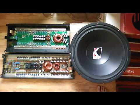 Talking about amps: Kicker ZR1000 & PPI PC2350 gut shots.