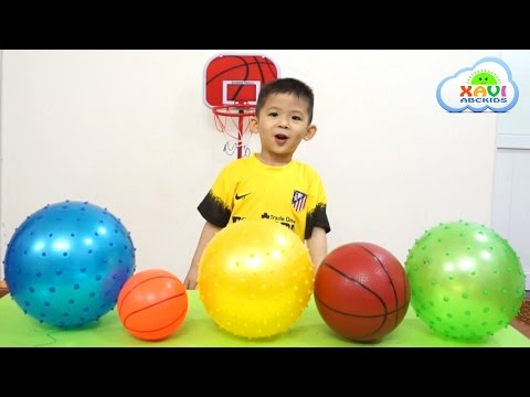 Learn Colors with Balls for kids, Toddlers and Babies | Colours for children with basketball