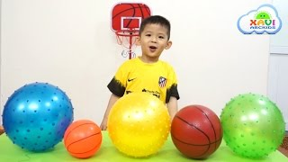 Learn colors and play basketball - Xavi ABCKids