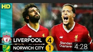 LIVERPOOL 4 VS NORWICH CITY1  extended highlights and goals