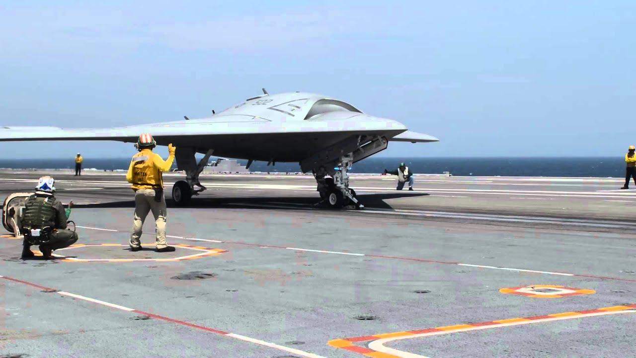 Download X-47B Completes First Carrier-based Arrested Landing