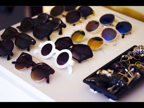 f22a969fe43f7 Minha coleção de óculos de sol  o  - YouTube