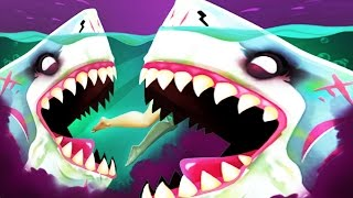 HALLOWEEN MEGALODON Shark ZOMBIFIED - Hungry Shark World Halloween New Update!